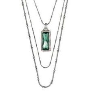 NWT Uno de 50 Aurora Borealis 3-Tier Necklace